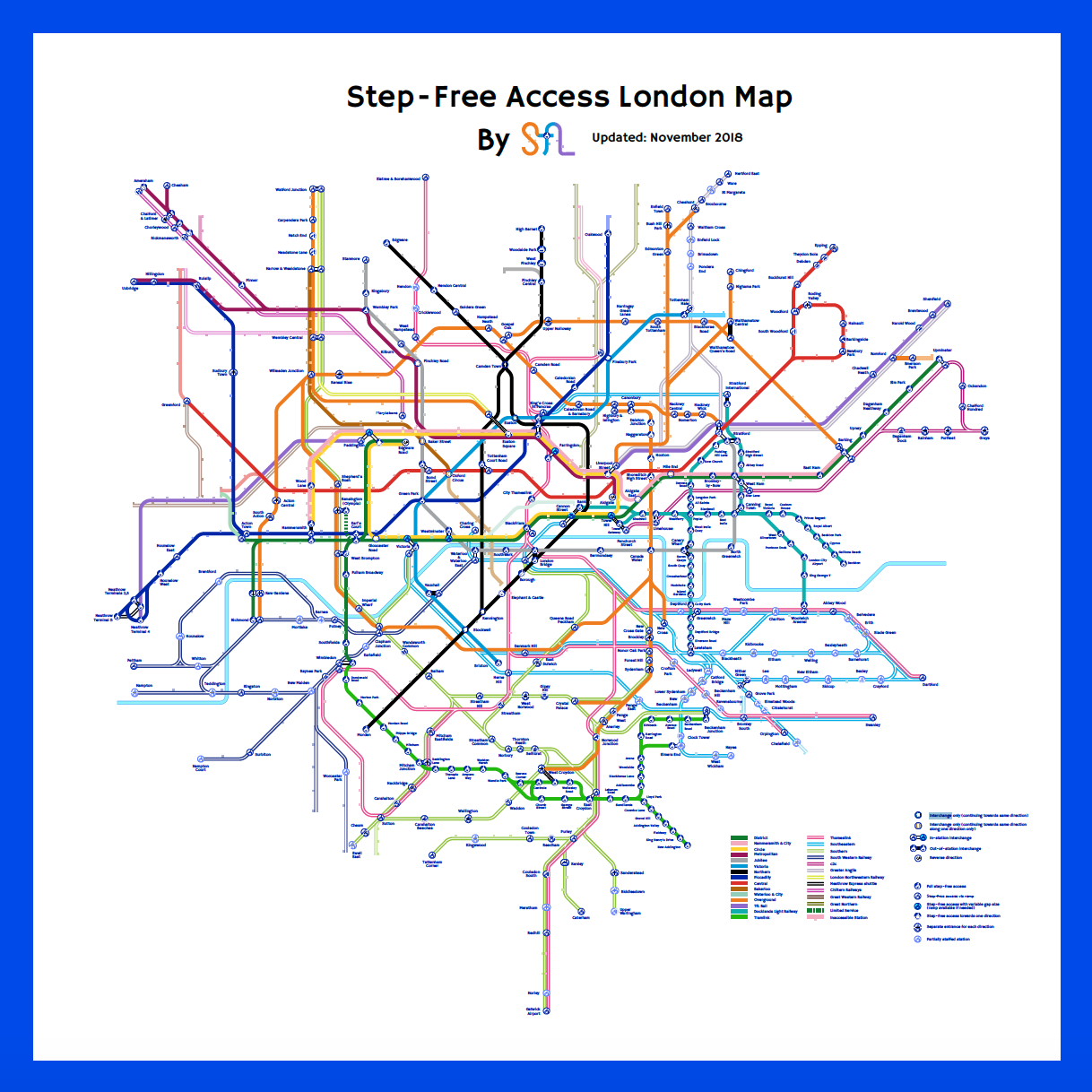 London Free Map.New Step Free Station And Upcoming Map Step Free London